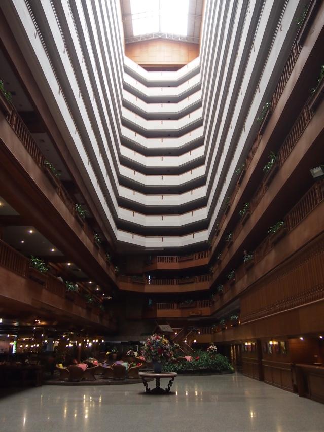 Reception and indoor garden, Lotus hotel